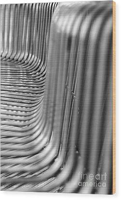 Take A Seat Wood Print by Tamara Becker