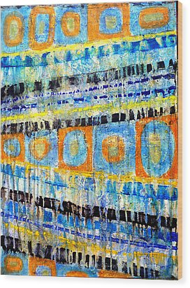 Wood Print featuring the painting Take Five by Jim Whalen