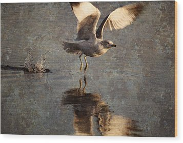 Take Flight Wood Print by Andrew Pacheco