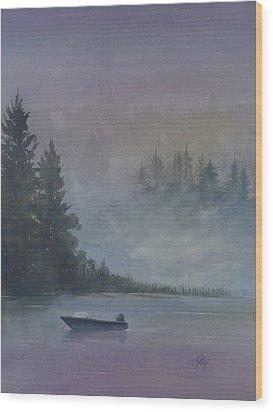Take Me Fishing Wood Print