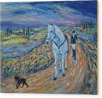 Wood Print featuring the painting Take Me Home My Friend by Xueling Zou