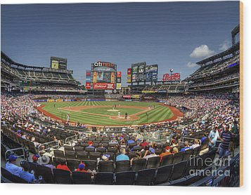 Take Me Out To The Ballgame Wood Print