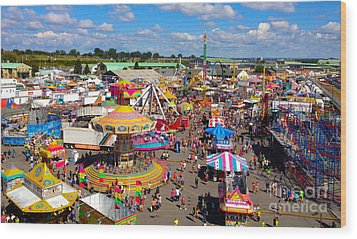 Take Me Out To The Fair Wood Print