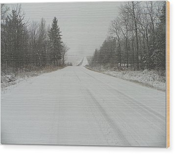 Take The Long Road Home Wood Print by Dianne  Lacourciere