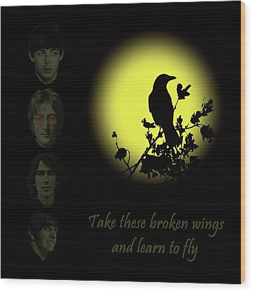Take These Broken Wings And Learn To Fly Wood Print