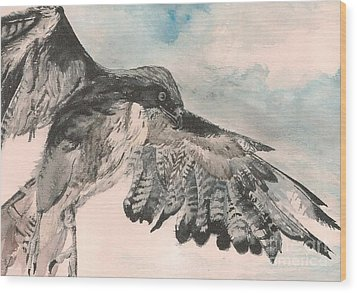 Take Wing Wood Print by Christina Verdgeline
