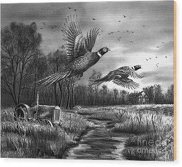 Taking Flight  Wood Print by Peter Piatt