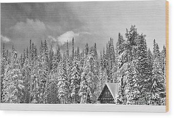 Taking Refuge - Grand Teton Wood Print by Sandra Bronstein