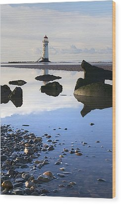Talacer Abandoned Lighthouse Wood Print by Spikey Mouse Photography