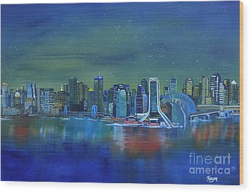 Tale Of 4 Cities Wood Print by Barbara Hayes