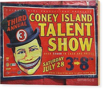 Talent Show Wood Print