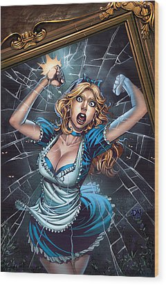Tales From Wonderland Alice  Wood Print by Zenescope Entertainment