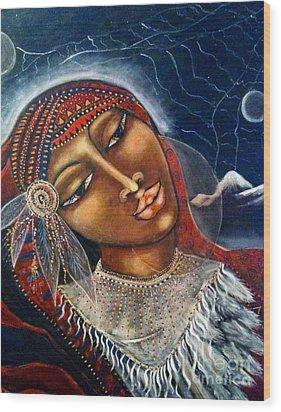 Taliswoman Wood Print by Maya Telford