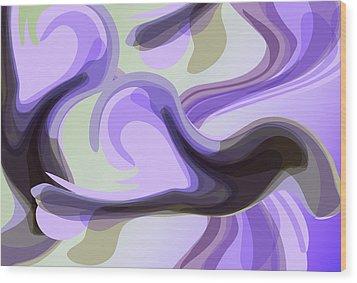 Talk To Me 2 Wood Print by Angelina Vick