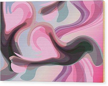 Talk To Me 3 Wood Print by Angelina Vick