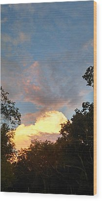 Talking Clouds Wood Print by Jean Marie Maggi