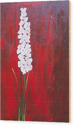 Tall Flower Wood Print