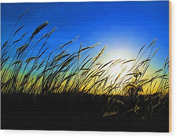 Tall Grass Wood Print by Bill Kesler
