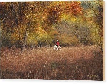Tall Grass Wood Print by Karen Slagle