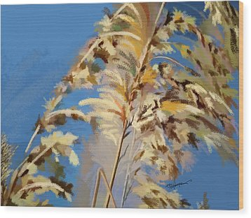 Wood Print featuring the digital art Tall Grass Mix by Anthony Fishburne