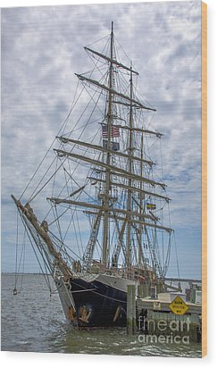 Wood Print featuring the photograph Tall Ship Gunilla Vertical by Dale Powell