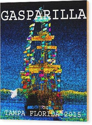 Tall Ship Jose Gasparilla Wood Print by David Lee Thompson