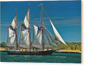 Tall Ship Wood Print by Steve Harrington