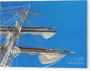 Tall Ship Yards Wood Print