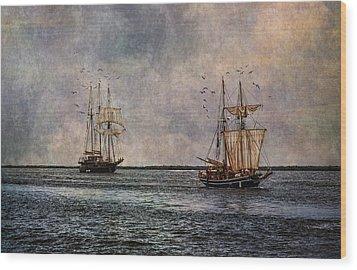 Tall Ships Wood Print by Dale Kincaid