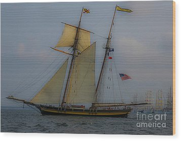 Wood Print featuring the photograph Tall Ships by Dale Powell