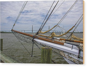 Wood Print featuring the photograph Tall Ships In Charleston by Dale Powell