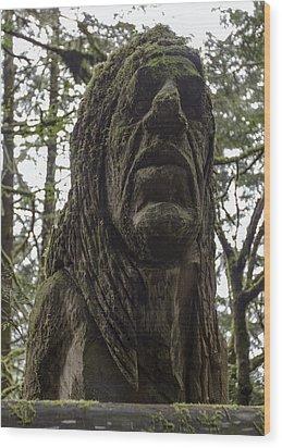 Tall Tales Bust Wood Print