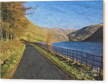 Talla Reservoir Scottish Borders Photo Art Wood Print