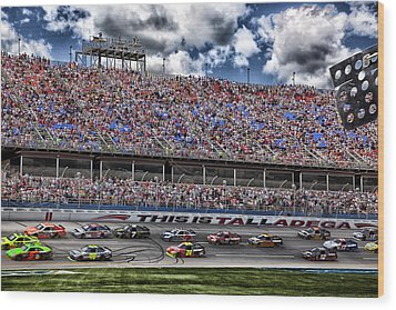 Talladega Superspeedway In Alabama Wood Print by Mountain Dreams