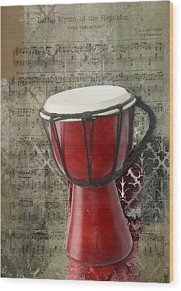 Tam Tam Djembe - S02a Wood Print by Variance Collections