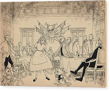 Wood Print featuring the drawing Tammy In Indpendence Hall by Reynold Jay