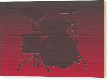 Tampa Bay Buccaneers Drum Set Wood Print by Joe Hamilton