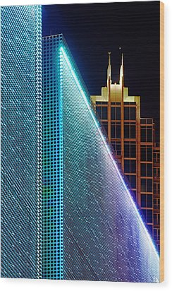 Wood Print featuring the photograph Tampa Museum Of Art At Night by Daniel Woodrum