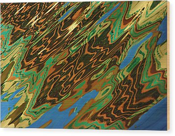 Wood Print featuring the photograph Tampa Reflection Abstract IIi by Daniel Woodrum