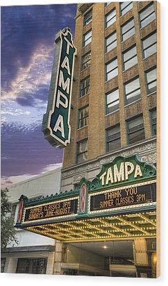 Tampa Theater Wood Print