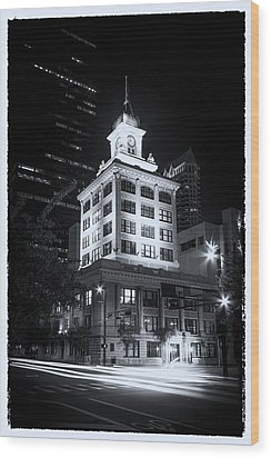 Tampa's Old City Hall Wood Print by Marvin Spates