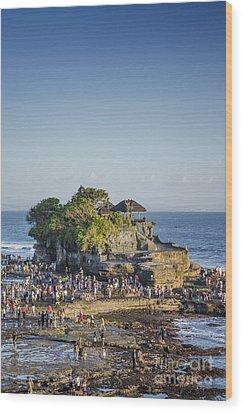 Tanah Lot Temple In Bali Indonesia Coast Wood Print