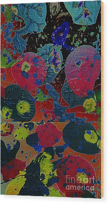 Wood Print featuring the painting Tangent by Jacqueline McReynolds