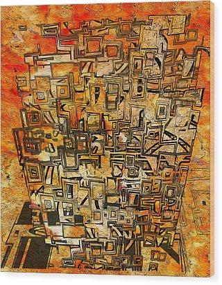 Tangerine Dream Wood Print by Jack Zulli