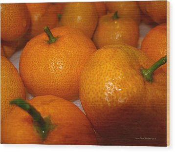 Tangerines 01 Wood Print by Brian Gilna