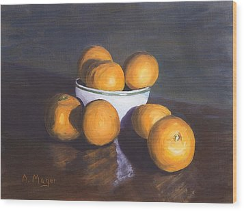 Tangerines Wood Print by Alan Mager