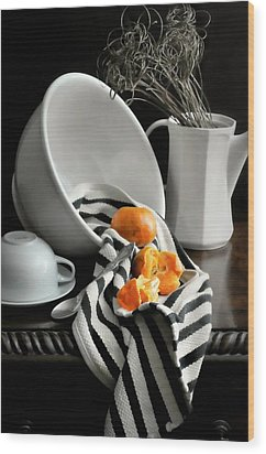 Tangerines Wood Print by Diana Angstadt