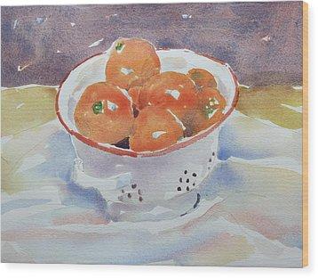 Tangerines Wood Print by Owen Hunt