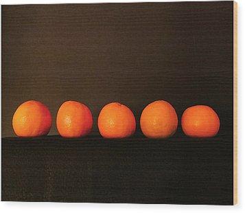 Tangerines Wood Print by Patricia Januszkiewicz