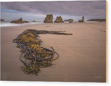 Tangled.... Bandon Oregon Wood Print by Tim Bryan